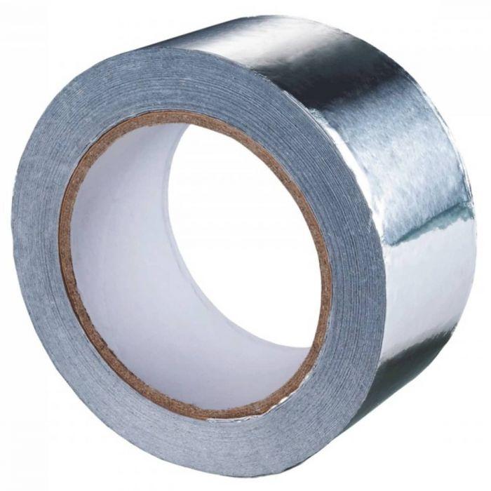 Скотч алюминиевый 50 мм, длина 25 м