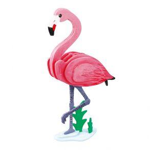 3D-пазл-раскраска «Фламинго»