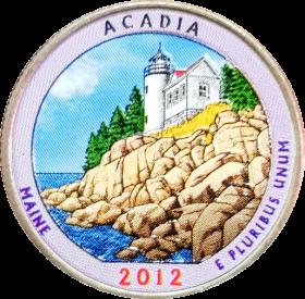 25 центов 2012 США Акадия (Acadia) 13-й парк, цветная