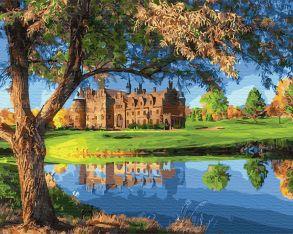 Картина по номерам «Замок у озера» 40x50 см