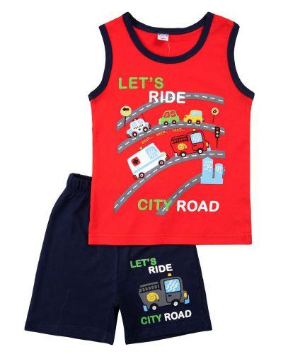 """Костюм для мальчика 2-5 лет Bonito """"City road"""" красный"""