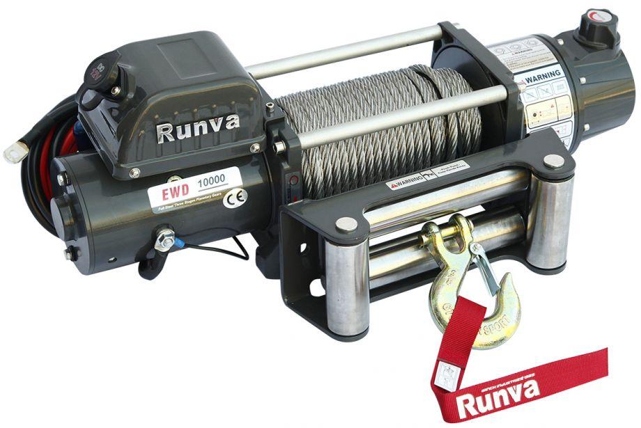 Лебёдка электрическая двухскоростная 12V Runva 10000 lbs 4500 кг