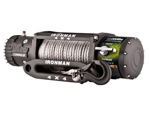 Электрическая лебедка 12000lbs 12V (синтетический трос)
