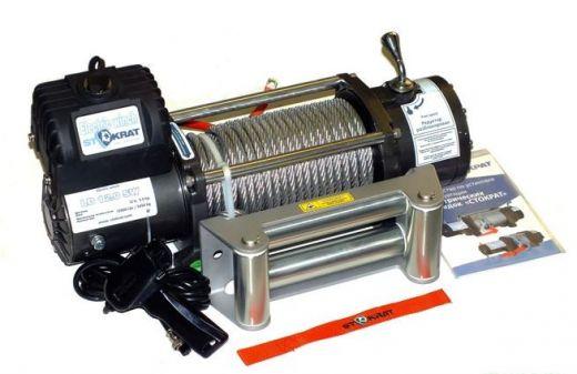 Лебедка электрическая автомобильная СТОКРАТ LD 12.0 SW, 12000 lbs, 12V, 5.5 л.с.