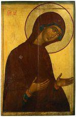 Икона Богоматерь из деисусного чина