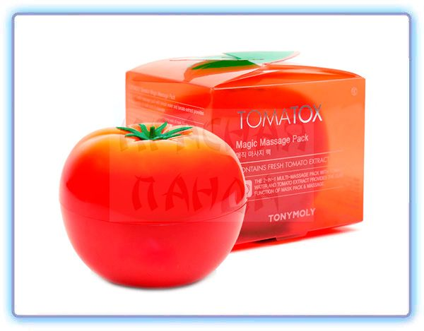 Осветляющая маска с экстрактом томата Tomatox Tony Moly Magic White Massage Pack