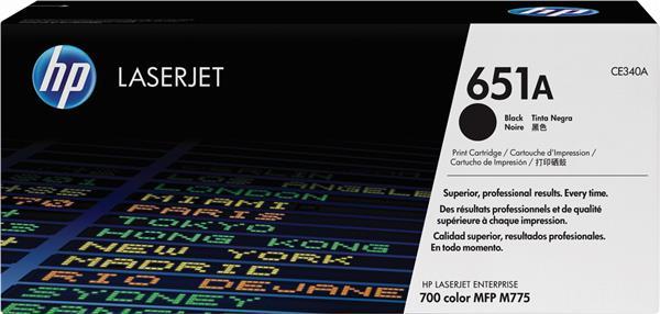 Картридж HP CE340A черный, № 651A