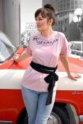 женская длинная футболка