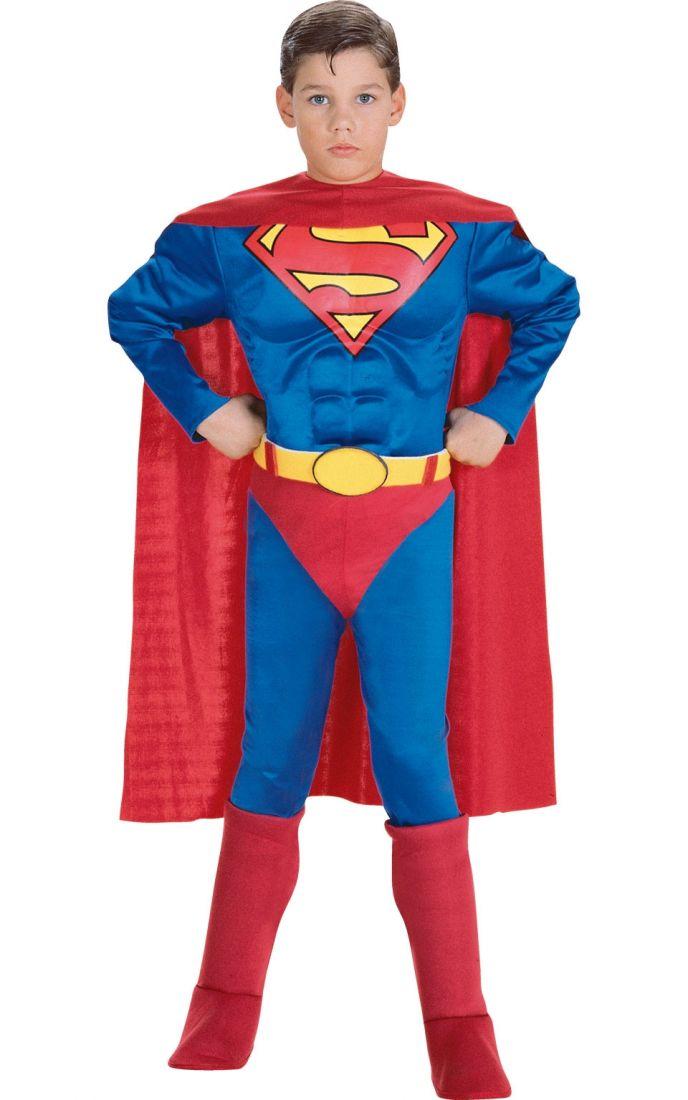 Костюм Супермена с мышцами детский