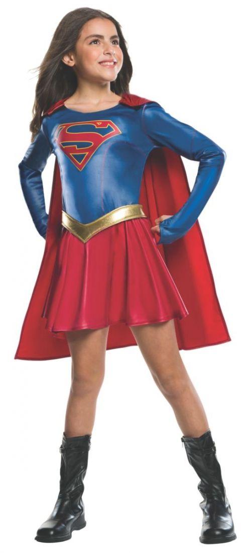 Детский костюм Супергерл в плаще