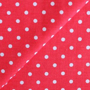 Ткань хлопок Горошек на красном 50х40
