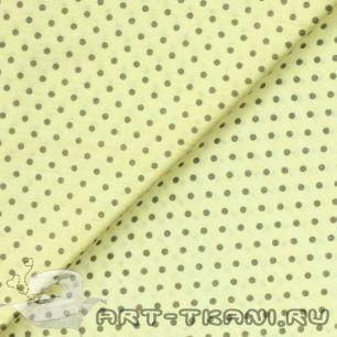 """Ткань """"Горошек на светло-желтом"""" 0,5 метра- хлопок 100%"""