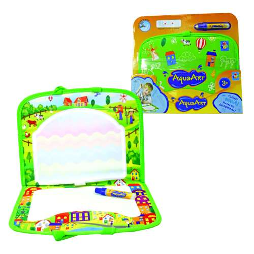1toy AquaArt коврик для рисования с водным маркером, зеленый, чемоданчик 47х30см, одно-разноцветный