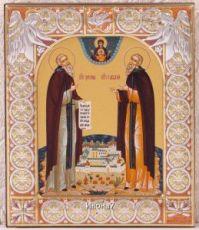 Зосима и Савватий Соловецкие (9х10,5см)
