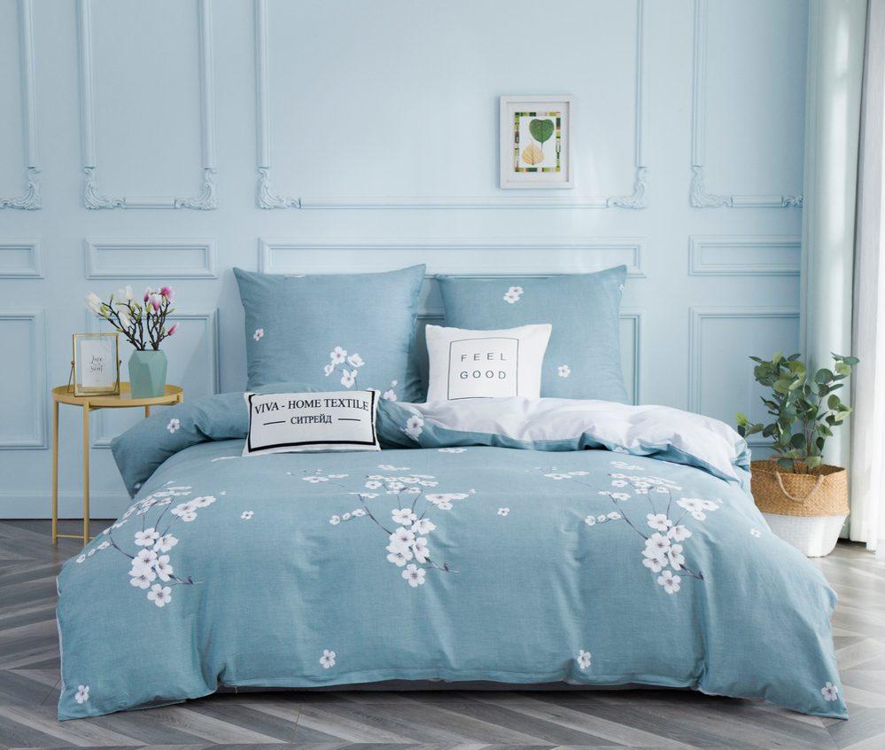 Комплект постельного белья 1.5 спальный Сатин C347