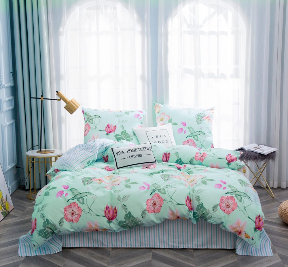 Комплект постельного белья 2 спальный Сатин C352