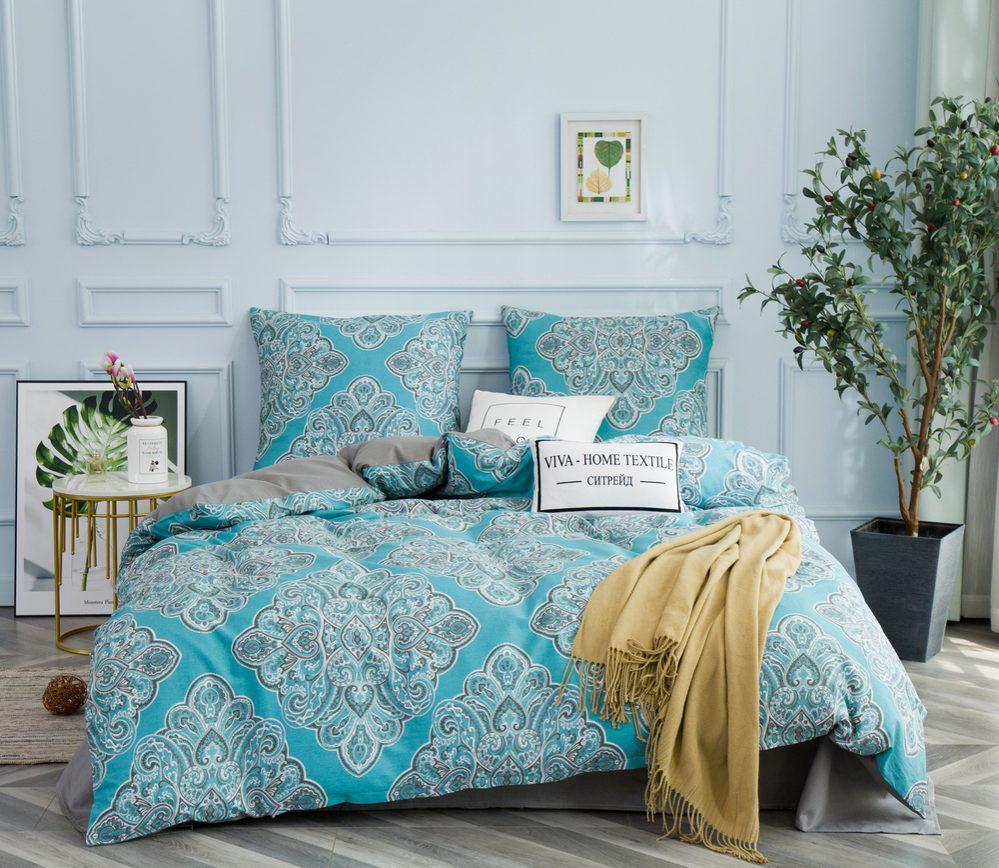 Комплект постельного белья 2 спальный Сатин C351