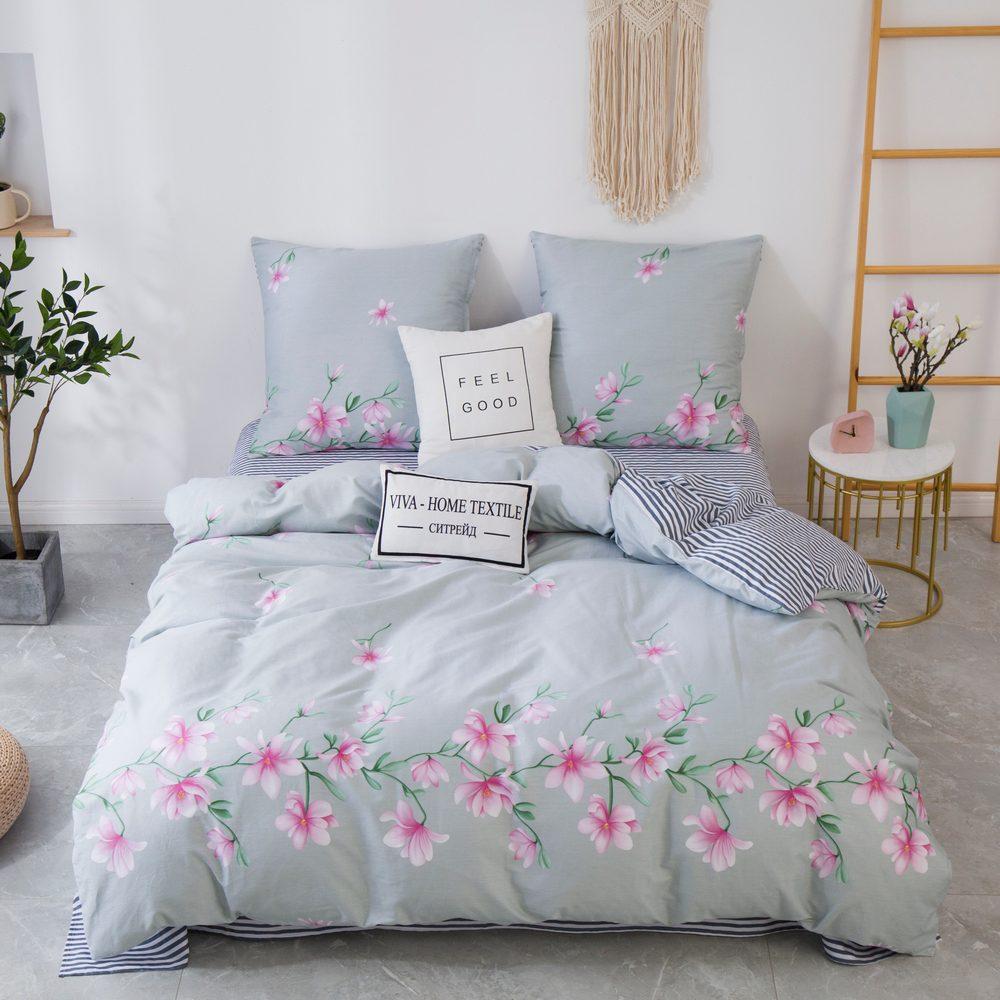 Комплект постельного белья Евро Сатин C358