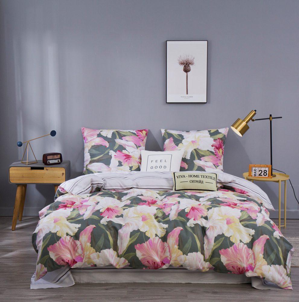 Комплект постельного белья Дуэт Семейный Сатин C361