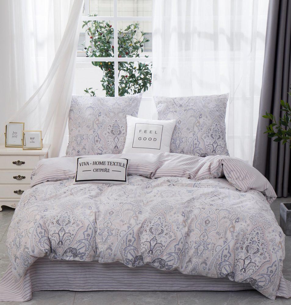 Комплект постельного белья Евро Сатин C362