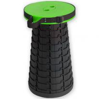 Складной походный табурет Telescopic Stool, зелёный