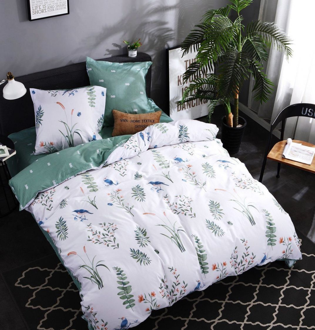 Комплект постельного белья Дуэт Семейный Сатин C309