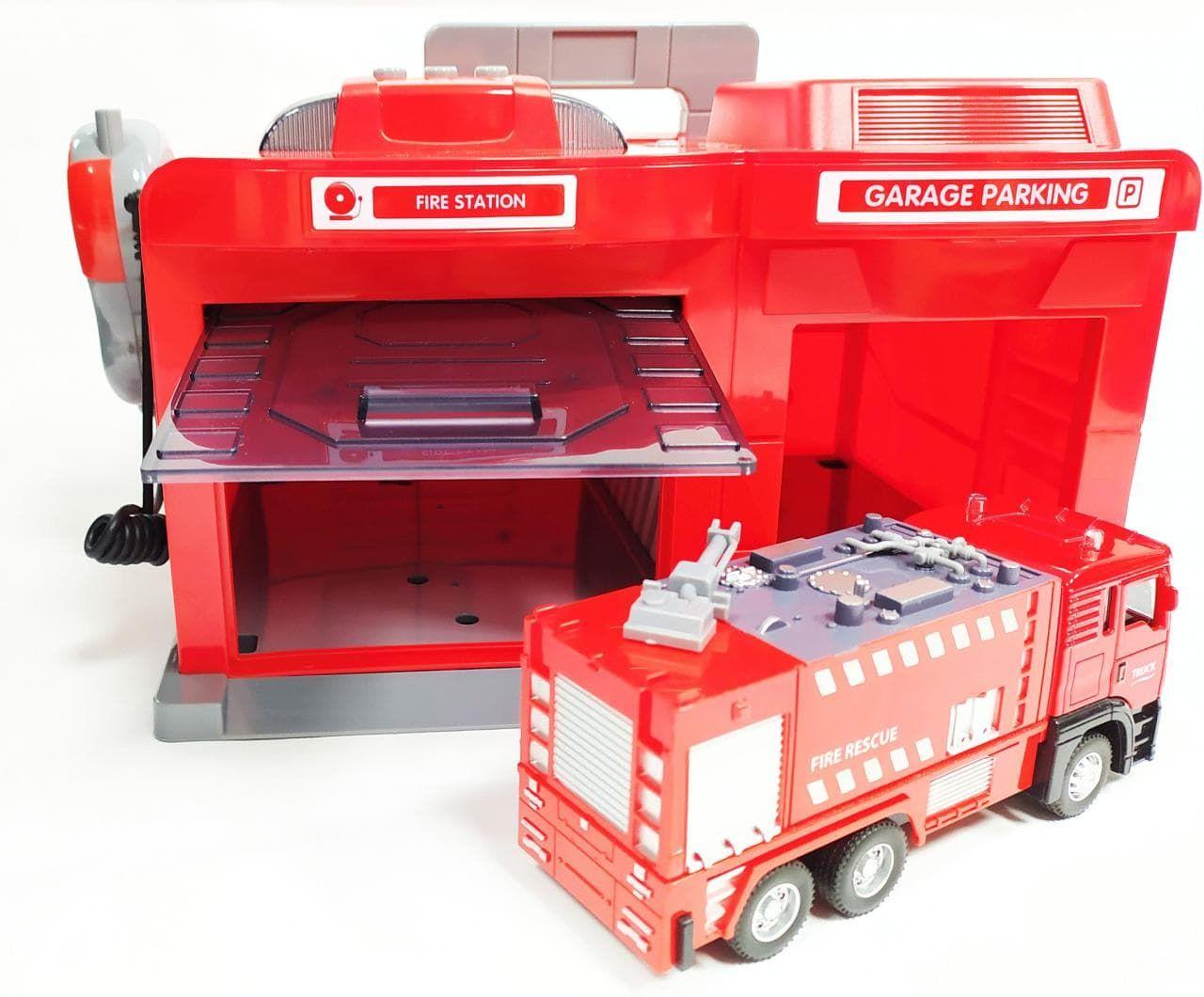 CLM-551 Парковка гараж с металической машинкой Пожарная служба