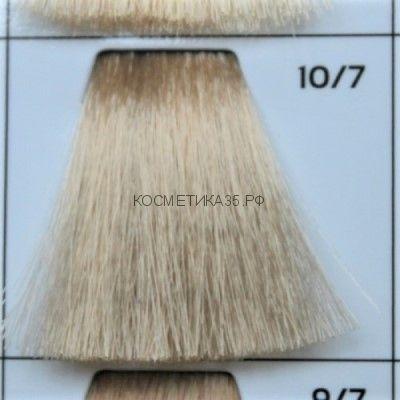 Крем краска для волос 10/7 Светлый Блондин коричневый 100 мл.  Galacticos Professional Metropolis Color