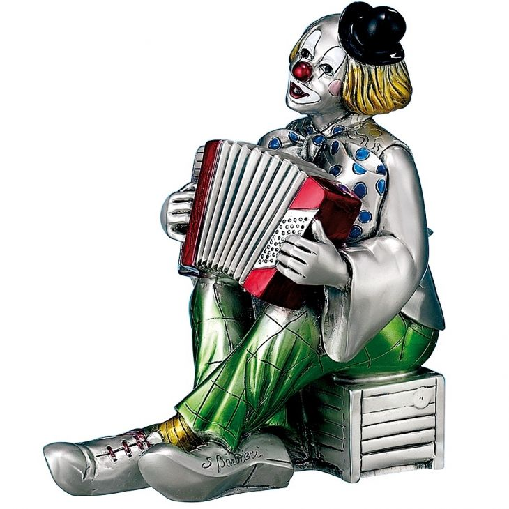 """Клоун """"Аккордеонист"""" (Италия, 22 см.)"""