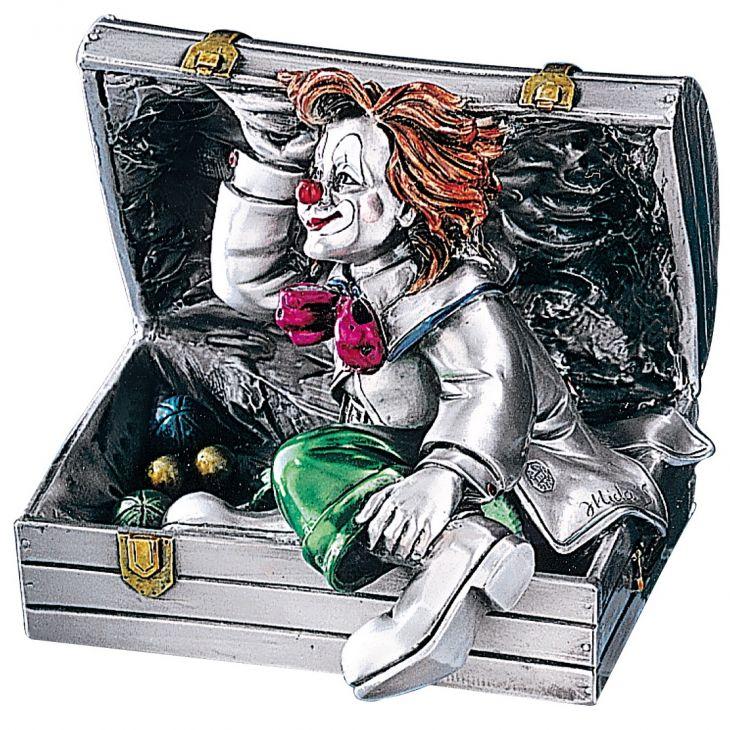 """Статуэтка """"Клоун в чемодане"""" (Италия, 11 см.)"""