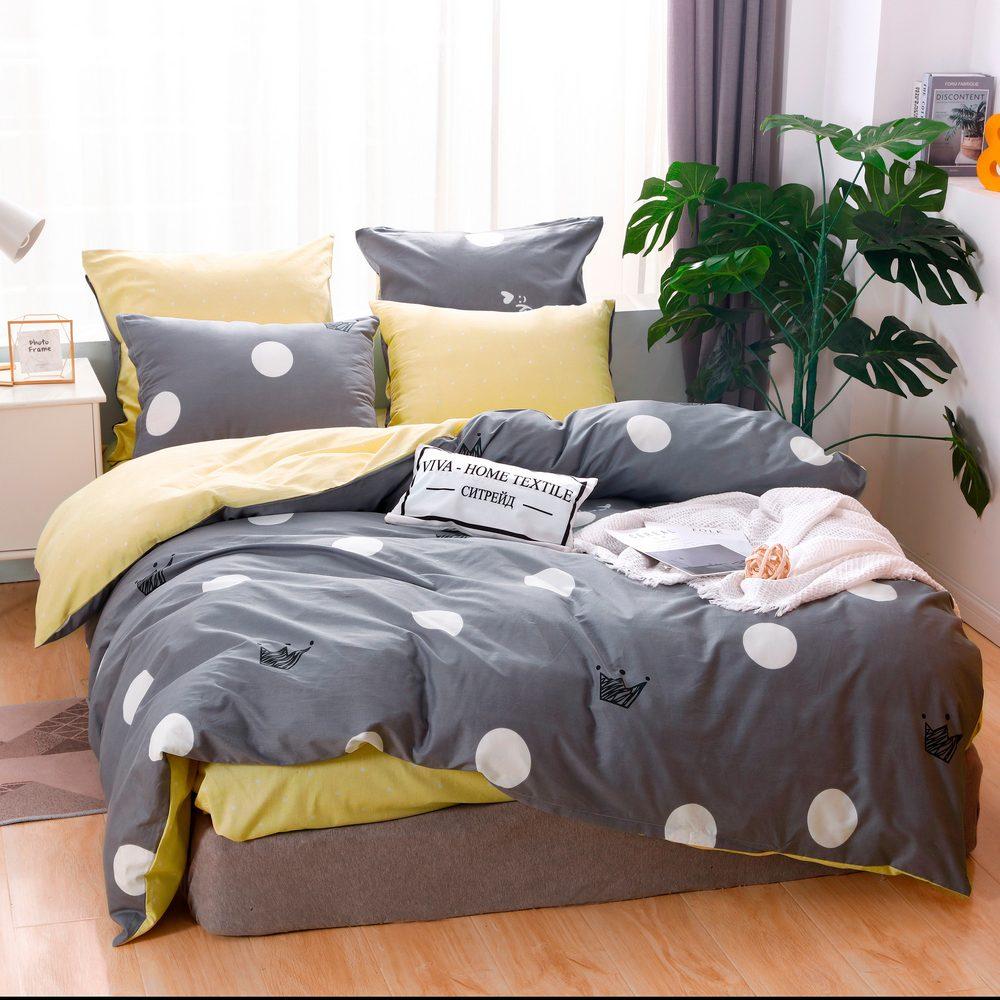 Комплект постельного белья Делюкс  Евро  Сатин на резинке LR213