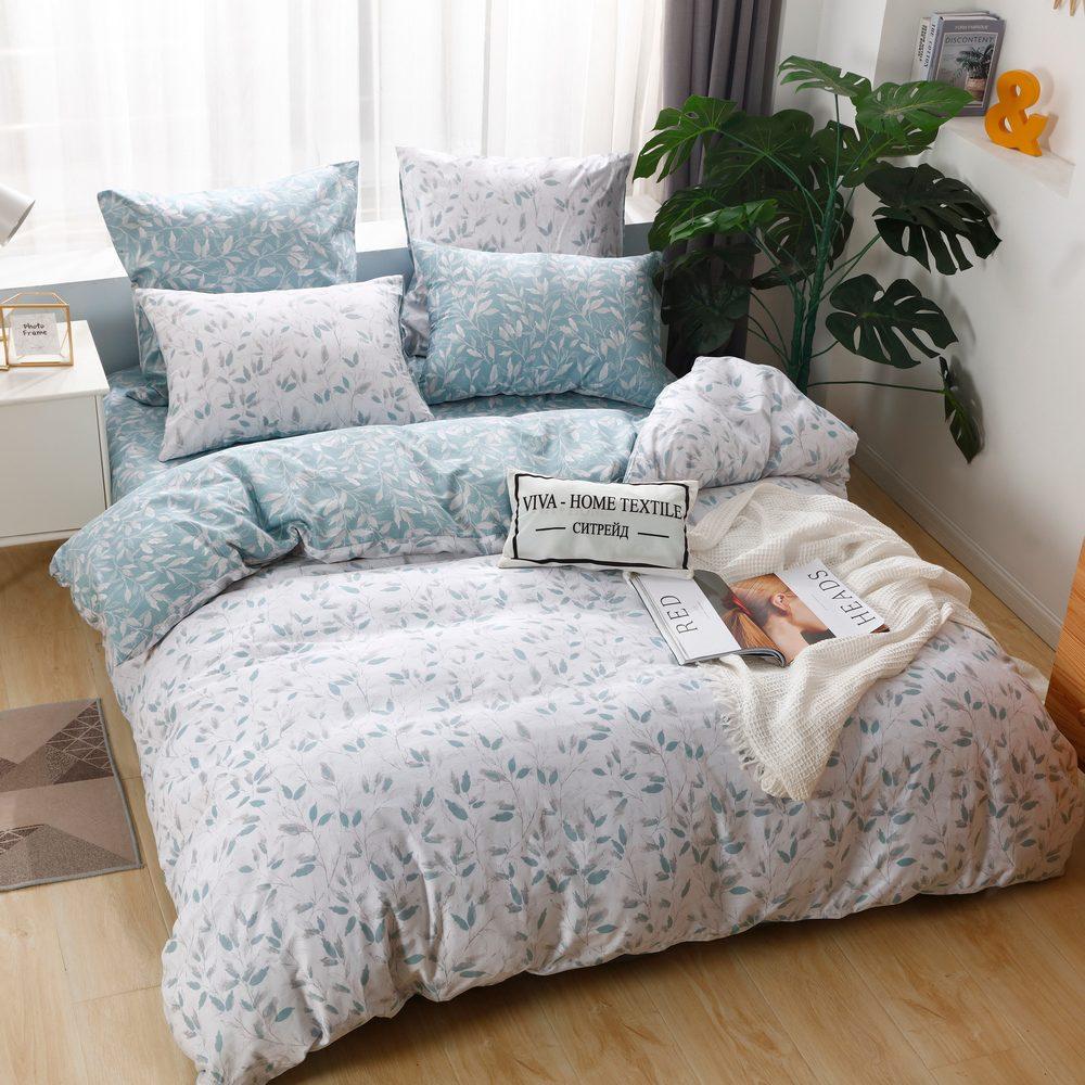 Комплект постельного белья Делюкс 2 спальный Сатин L215