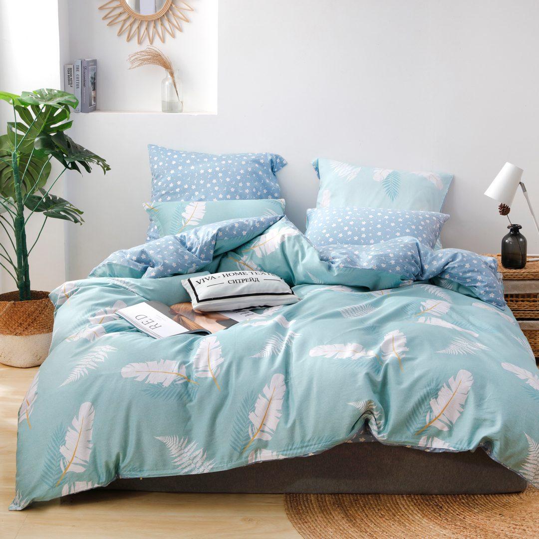 Комплект постельного белья Делюкс 2 спальный Сатин L219
