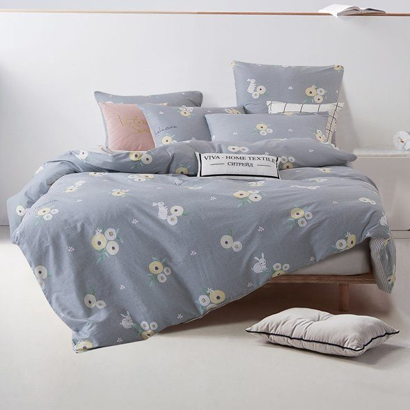 Комплект постельного белья Делюкс 2 спальный Сатин L165