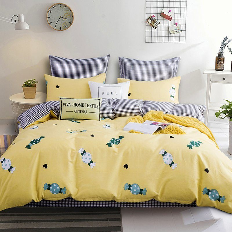 Комплект постельного белья Делюкс  Евро  Сатин на резинке LR168