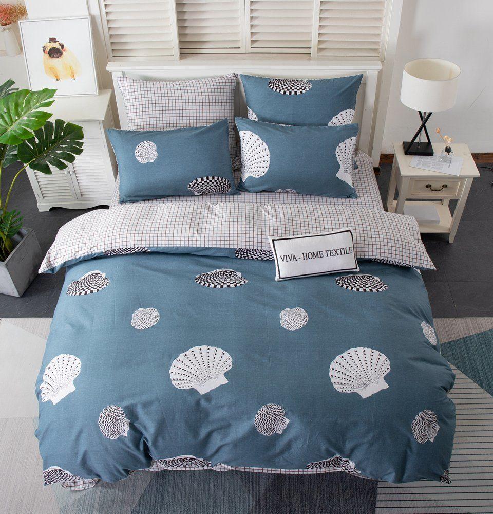Комплект постельного белья Делюкс 2 спальный Сатин на резинке LR201