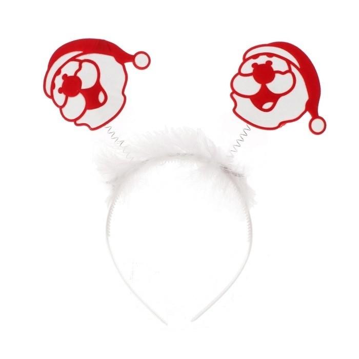 Новогодний ободок Дед Мороз
