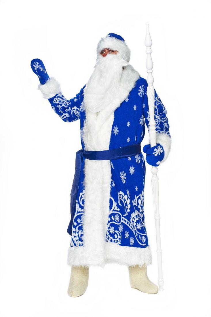 Синий классический костюм Деда Мороза