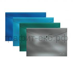 Конверт B5 на кнопке ErichKrause Glossy Ice Metallic полупрозрачный 50321