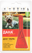 Дана Ультра Капли против внешних паразитов для собак и щенков до 5 кг