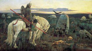 Витязь на распутье (Репродукция Виктора Васнецова 1882 г)