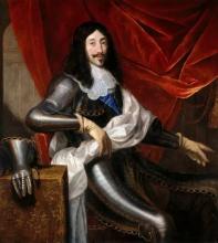 Портрет Людовика XIII Франции 1601-1643 гг. (Репродукция  Юстус ван Эгмонт)