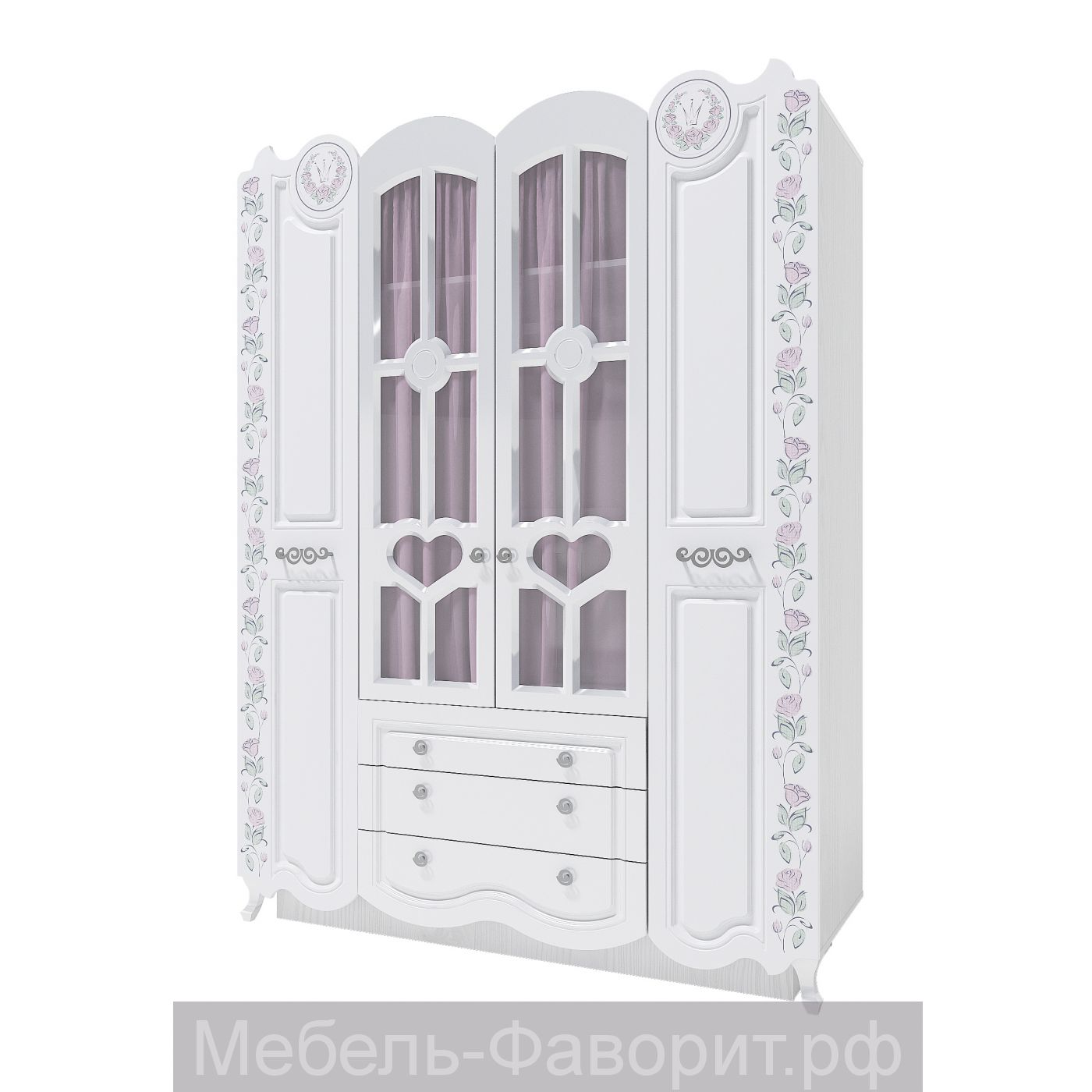 Розалия-24 шкаф 4-х створчатый