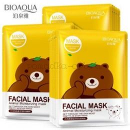 Маска с эссенцией зеленого чая BioAqua Fasial Animal Mask ОРИГИНАЛ
