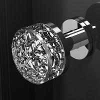 Ручка кноб Glass Design Mirage Pull XL. хром полированный/прозрачный кристалл