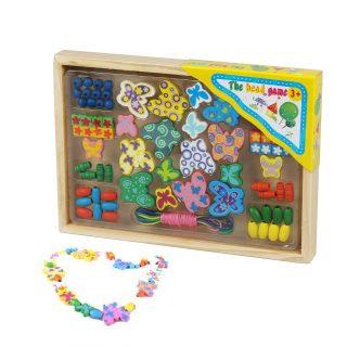 Развивающий набор со шнуровкой Бабочки, 75 Деталей, коробка