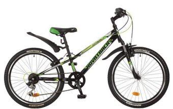 Велосипед NOVATRACK 24 EXTREME, сталь.рама 12 чёрный, 6-скор, TY21/RS35/SG-6SI, V-brake
