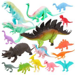 Набор динозавров, 15 фигурок, пакет
