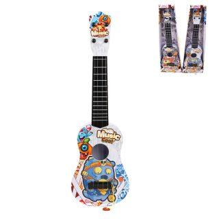 Гитара Монстрики 57 см, 4 стуны, в ассортим., коробка