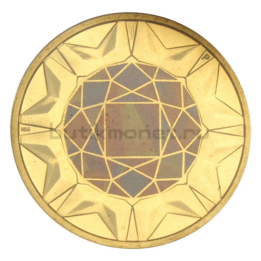 1 доллар 2017 Тувалу Родонит (Драгоценные камни)